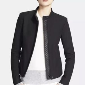 Women's Vince contrast leather quilted trim jacket